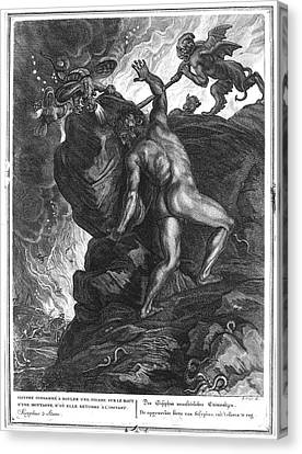 Punishment Canvas Print - Sisyphus Stone by Granger