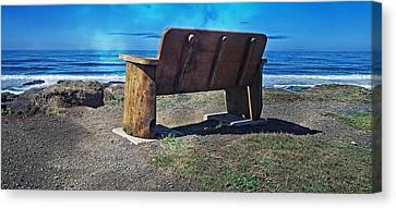 You Could Be Sitting There Canvas Print by Thom Zehrfeld