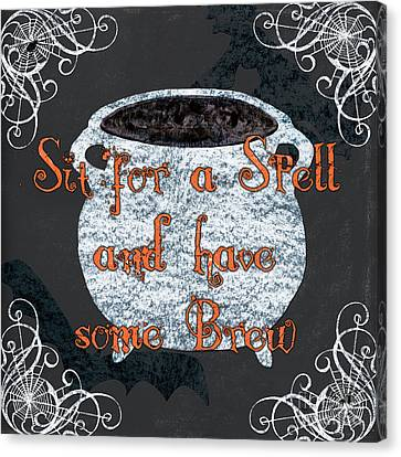 Sit For A Spell Canvas Print by Debbie DeWitt