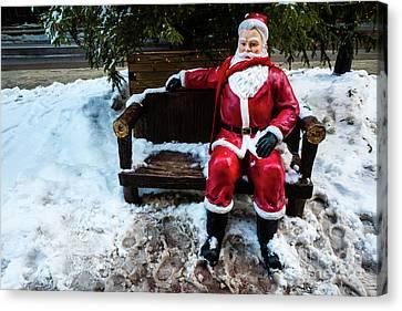 Sit With Santa Canvas Print