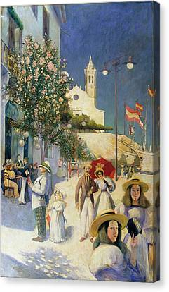Sitges In The Twentieth Century Canvas Print by MotionAge Designs