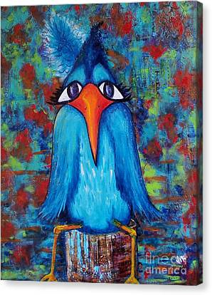 Sittin' At The Dock Of The Bay Canvas Print by Vickie Scarlett-Fisher