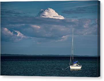 Canvas Print featuring the photograph Sittin By The Bay by Onyonet  Photo Studios