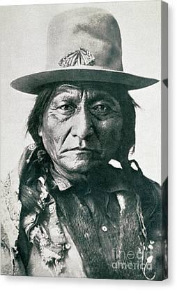 Braids Canvas Print - Sitting Bull by American School