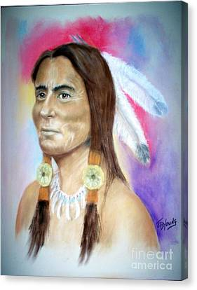 Sitting Bull Canvas Print by John De Young