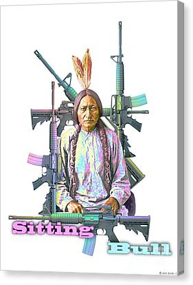 Bulls Canvas Print - Sitting Bull by John Smith