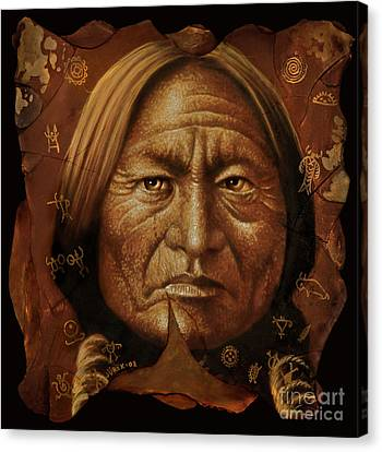 Sitting Bull Canvas Print by Jurek Zamoyski