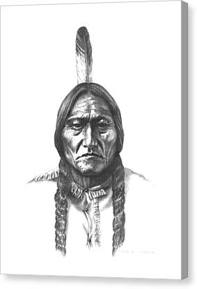 Sitting Bull Canvas Print by Lee Updike