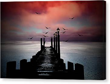 Canvas Print - Sitting On The Dock Of The Bay by Andrea Kollo