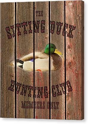 Sitting Duck Hunting Club Canvas Print