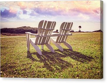 Canvas Print featuring the photograph Sitting In The Sun by Debra and Dave Vanderlaan