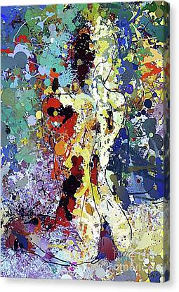 Sitting Nu Abstract Canvas Print by Dragica Micki Fortuna