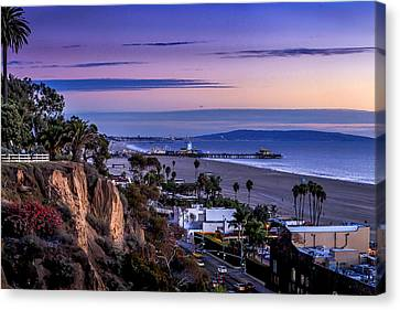 Sitting On The Fence - Santa Monica Pier Canvas Print
