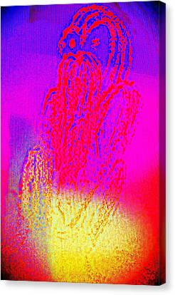 Sitting On The Light Spot Feeling Blue  Canvas Print by Hilde Widerberg