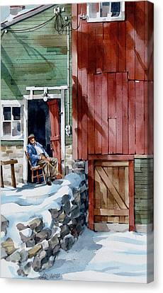 Sitting Out Winter Canvas Print by Art Scholz