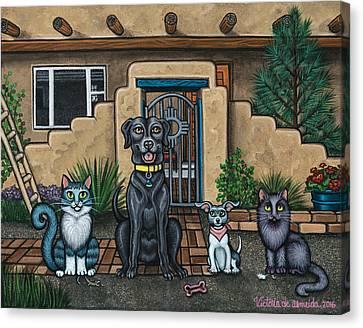 House Pet Canvas Print - Sitting Pretty by Victoria De Almeida