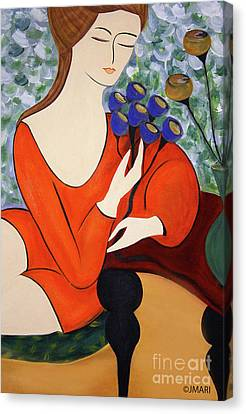 Sitting Women Canvas Print