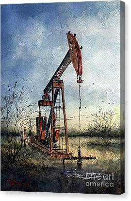 Sitton Pumpjack Canvas Print