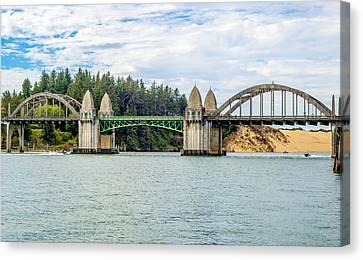 Siuslaw River Draw Bridge  Canvas Print by Dennis Bucklin