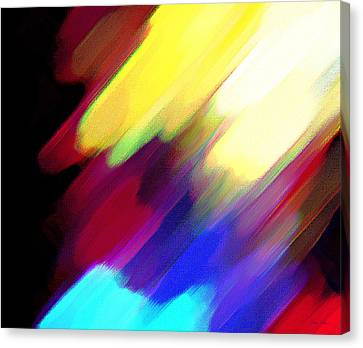 Canvas Print featuring the painting Sivilia 1 Abstract by Donna Corless