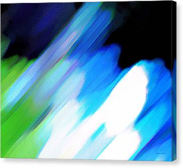 Canvas Print featuring the painting Sivilia 10 Abstract by Donna Corless