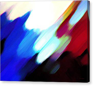 Canvas Print featuring the painting Sivilia 12 Abstract by Donna Corless