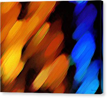 Canvas Print featuring the painting Sivilia 3 Abstract by Donna Corless