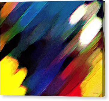 Canvas Print featuring the painting Sivilia 4 Abstract by Donna Corless