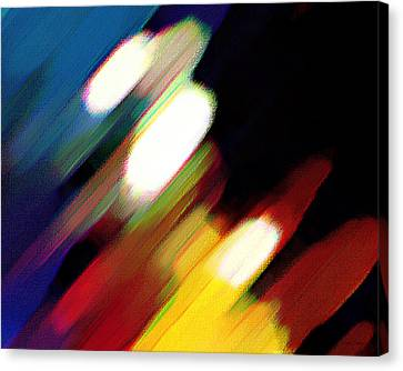 Canvas Print featuring the painting Sivilia 5 Abstract by Donna Corless