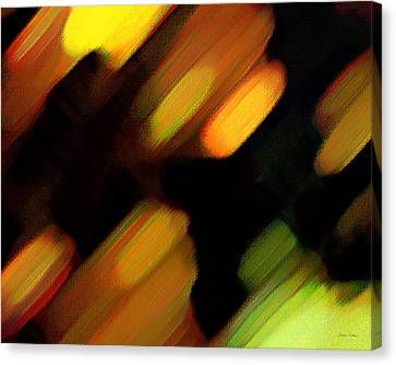Canvas Print featuring the painting Sivilia 6 Abstract by Donna Corless