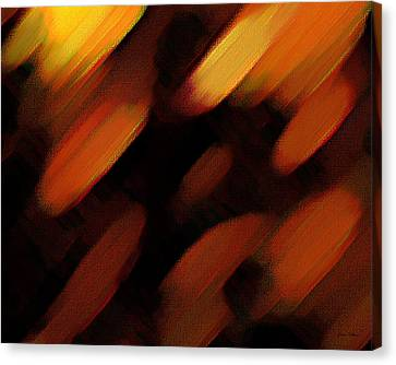 Canvas Print featuring the painting Sivilia 7 Abstract by Donna Corless