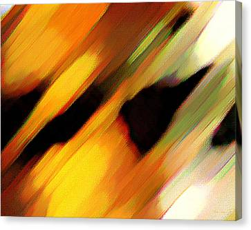 Canvas Print featuring the painting Sivilia 8 Abstract by Donna Corless
