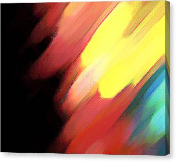 Canvas Print featuring the painting Sivilia 9 Abstract by Donna Corless