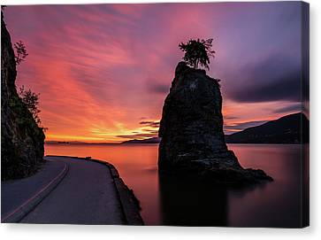 Canvas Print featuring the photograph Siwash Rock Along The Sea Wall by Pierre Leclerc Photography