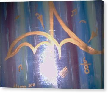 Six Eight Singing In The Rain Canvas Print by Alanna Hug-McAnnally