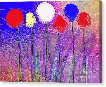 Six In A Row Canvas Print by Mimo Krouzian