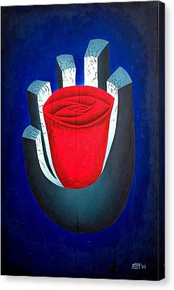 six Canvas Print by Poul Costinsky