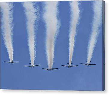 Canvas Print featuring the photograph Six Roolettes In Formation by Miroslava Jurcik