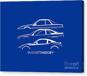 Six Stars Sports Coupe Silhouettehistory Canvas Print by Gabor Vida
