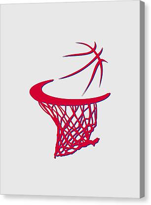 Sixers Basketball Hoop Canvas Print by Joe Hamilton