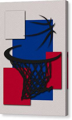 Sixers Hoop Canvas Print by Joe Hamilton