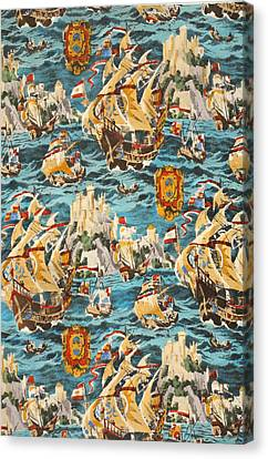 Sixteenth Century Ships Canvas Print by Harry Wearne