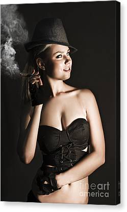Provocative Canvas Print - Sixties Undercover Private Eye Detective by Jorgo Photography - Wall Art Gallery