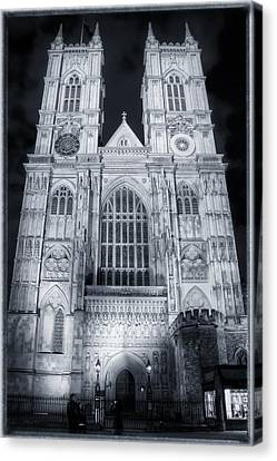 Westminster Abbey Night Canvas Print