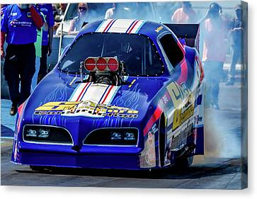 Sizemore Construction Pontiac Funny Car Canvas Print by Bill Gallagher