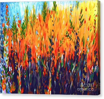 Canvas Print featuring the painting Sizzlescape by Holly Carmichael