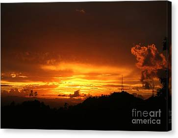 Canvas Print featuring the photograph Sizzling Sunset by The Art of Alice Terrill