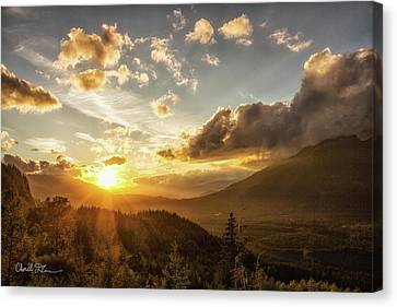 Skagit Valley Sunset Canvas Print by Charlie Duncan
