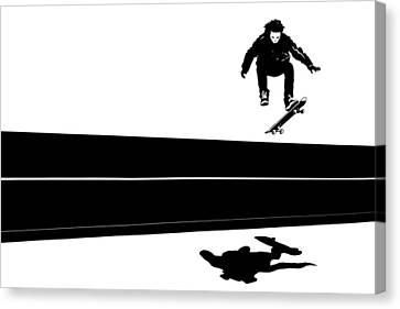 Skateboard Canvas Print by Giuseppe Cristiano