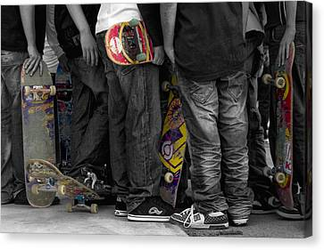 Skateboarders Canvas Print by Stelios Kleanthous